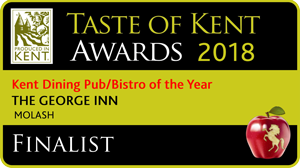 Taste of Kent Awards 2016. The George Molash - Best Dining Pub in Kent